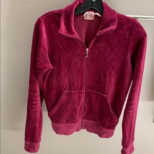 Juicy Couture Burgundy Velour Track Jacket